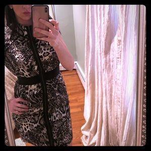 Bebe animal print dress